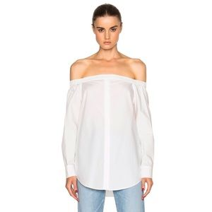Equipment off shoulder top sz small